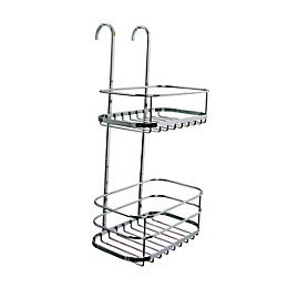 Croydex Chrome Plated Metal Shower Caddie