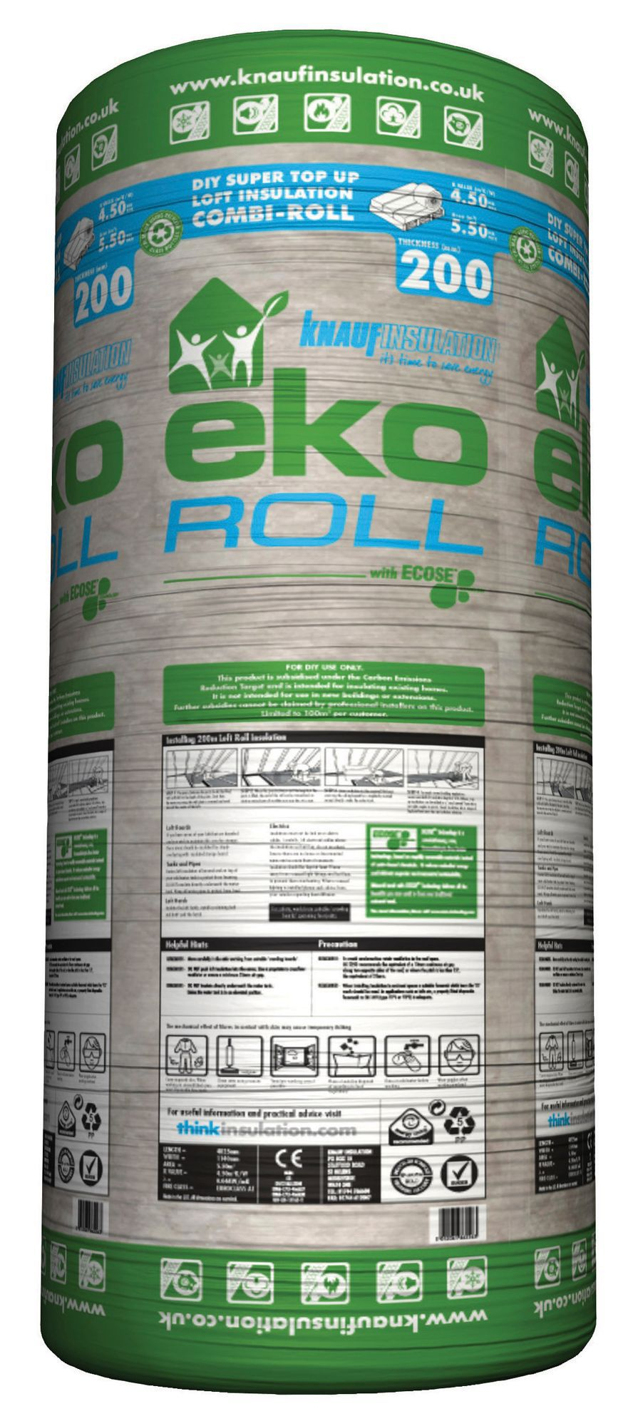 Knauf Eko Roll Loft Insulation L 4 83 M W 1 14 M T