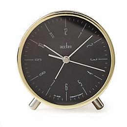 Acctim Evo Retro Gold Analogue alarm clock