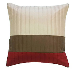 Boston Striped Brown, Cream & Red Cushion