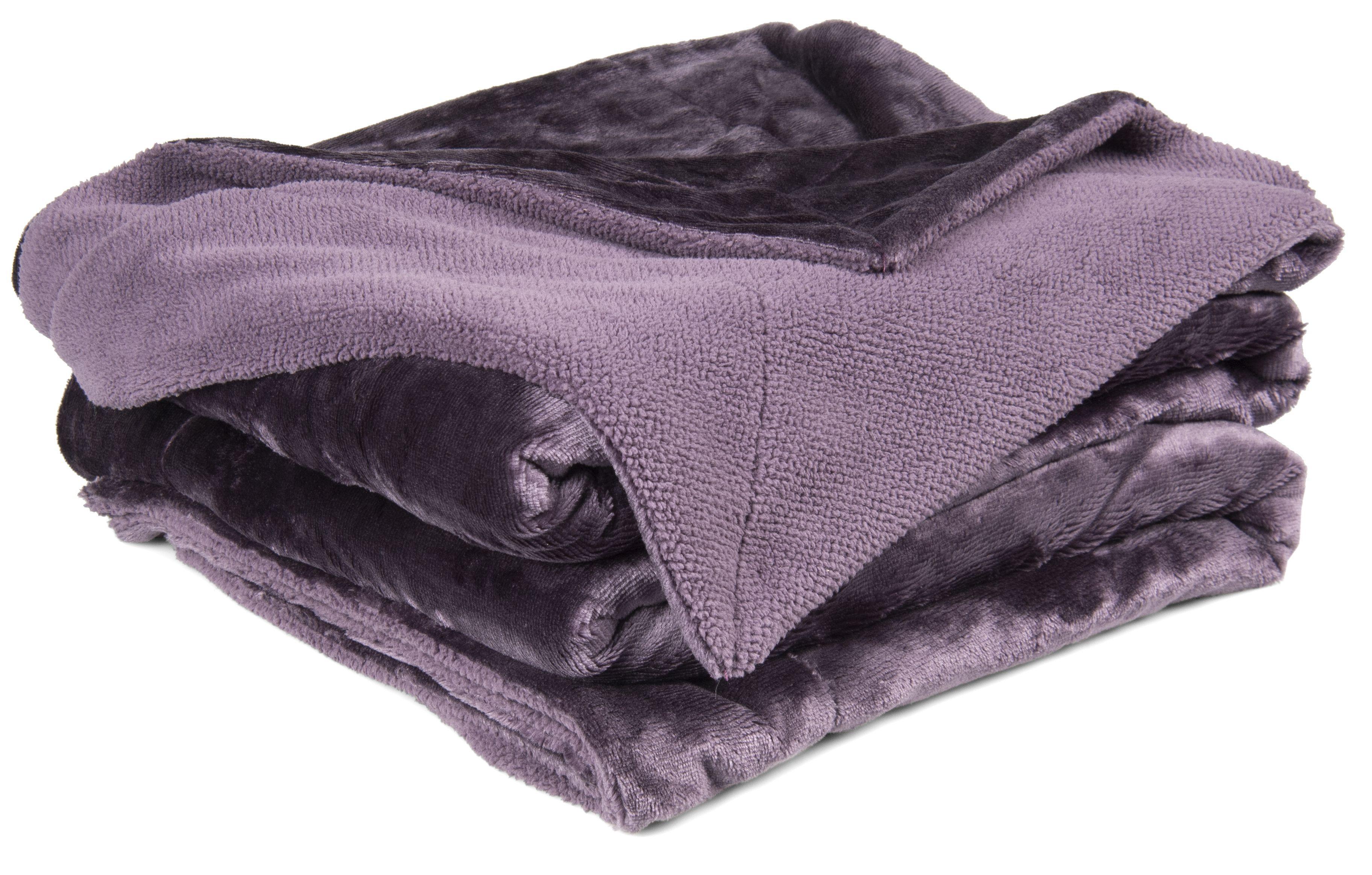 Chartwell Luxury Purple Plain Velvet Throw Departments