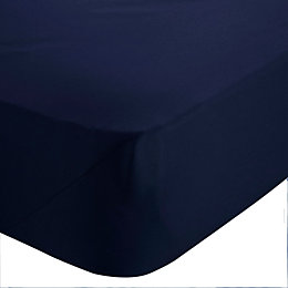 Chartwell Navy Double Fitted Sheet