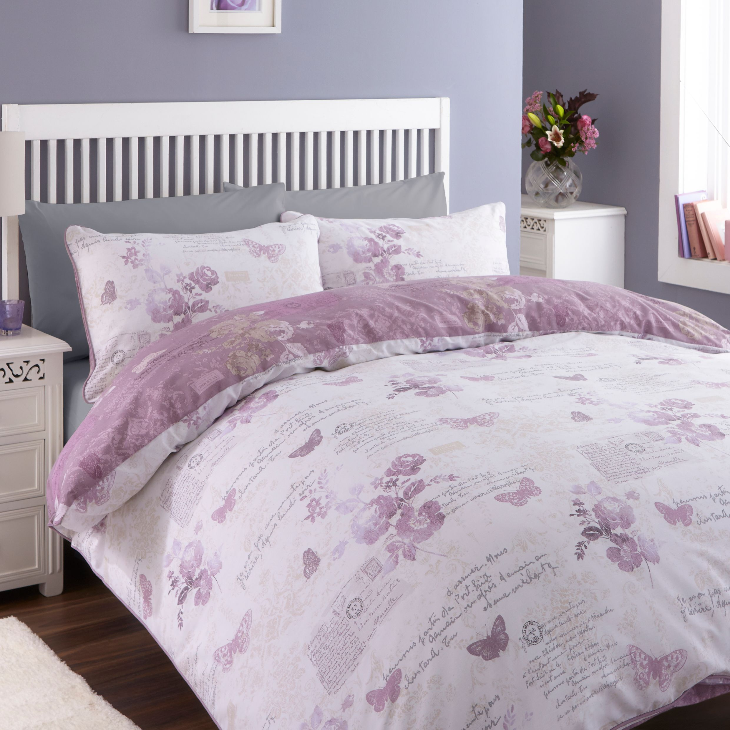 Chartwell Lilian Butterfly Wisteria King Size Bed Cover