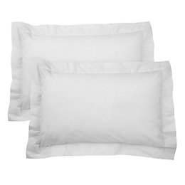 Chartwell Plain Oxford White Pillow Case, Pack of