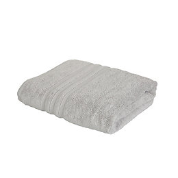 Catherine Lansfield Zero Twist Grey Bath Towel