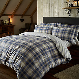 Chartwell Check Blue Double Bed Set