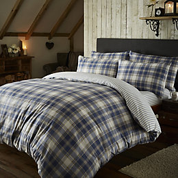 Chartwell Check Blue King Size Bed Set