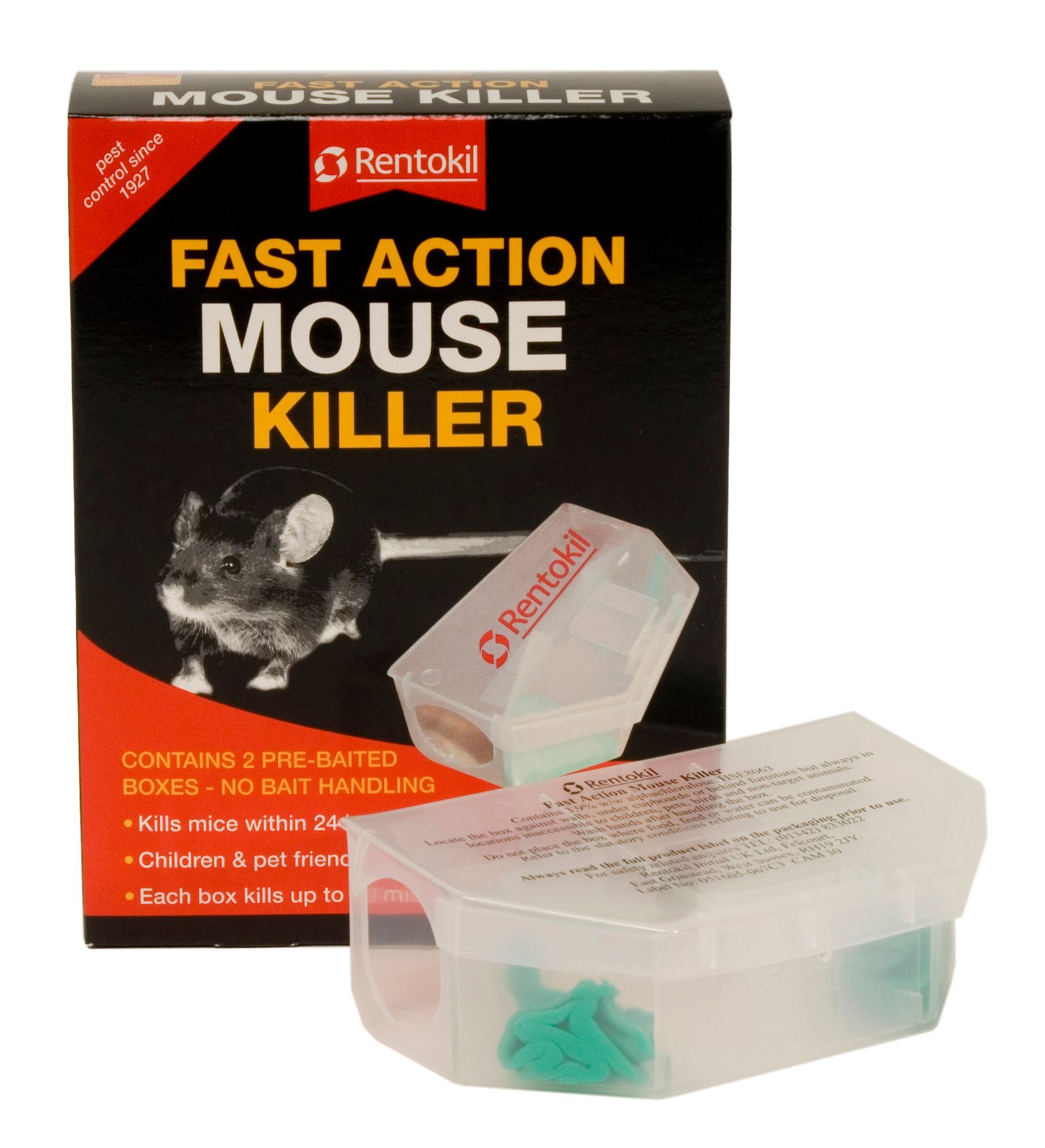 Rentokil Fast Action Poisonous Bait Trap Mouse Control 131