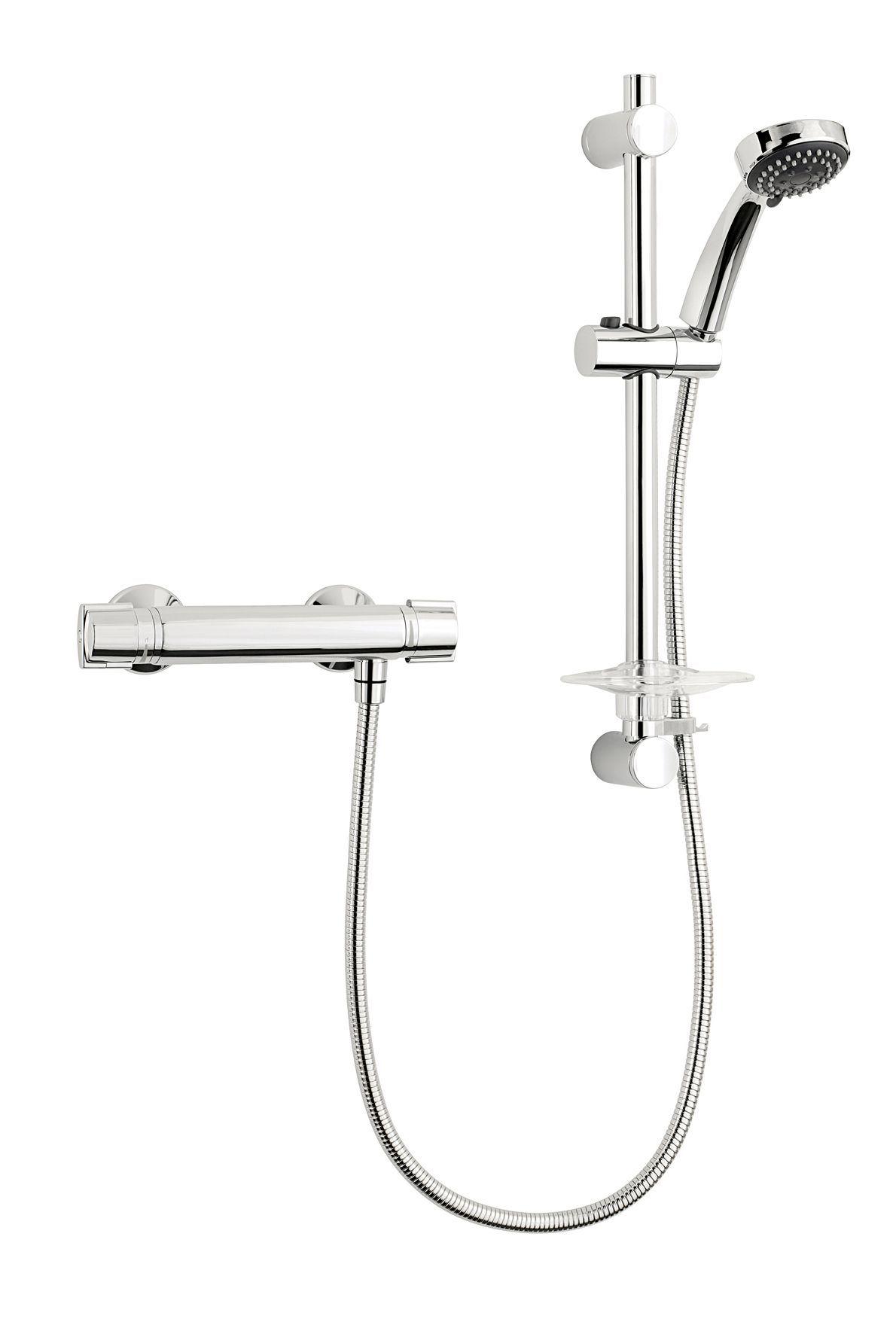 Triton Minuto Rear fed Chrome Thermostatic Bar mixer shower ...