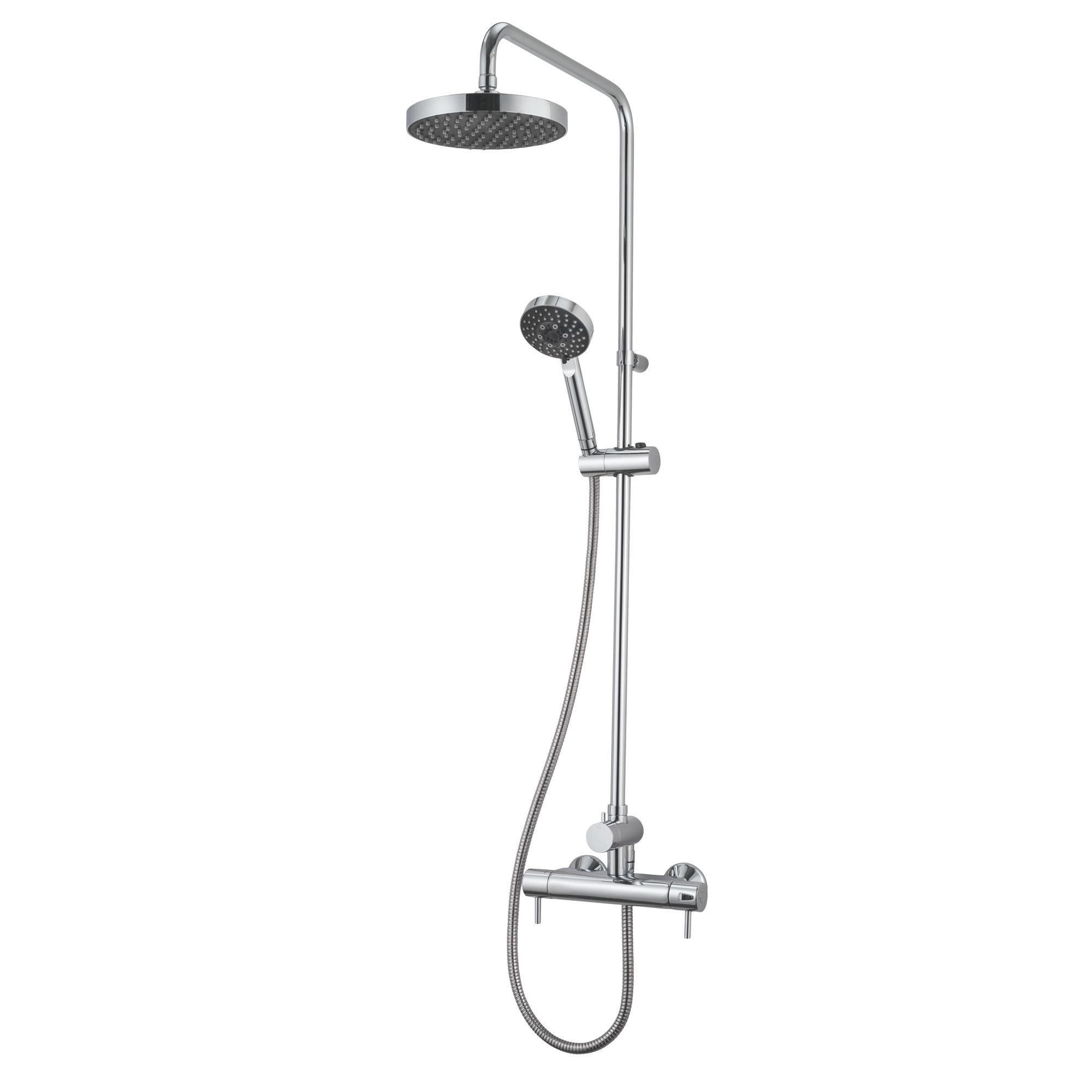 Triton Carnival Chrome Thermostatic Bar Mixer Shower with Diverter ...
