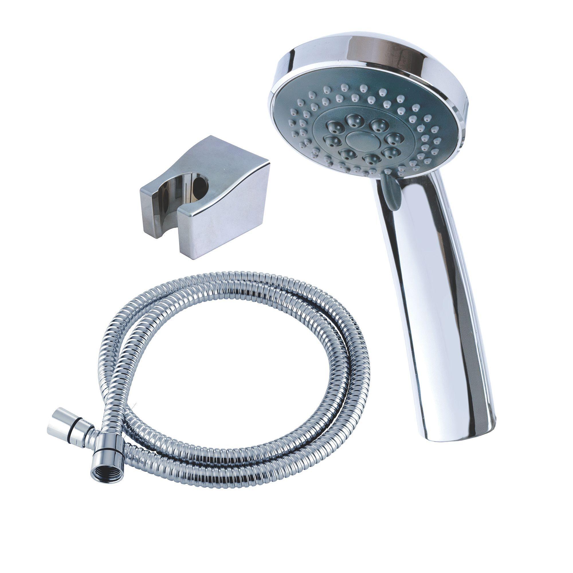 Bath Taps With Shower Head Triton Silver Chrome Effect Shower Head Hose Amp Shower
