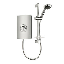 Triton Collections Brushed steel effect Electric shower, 8.5