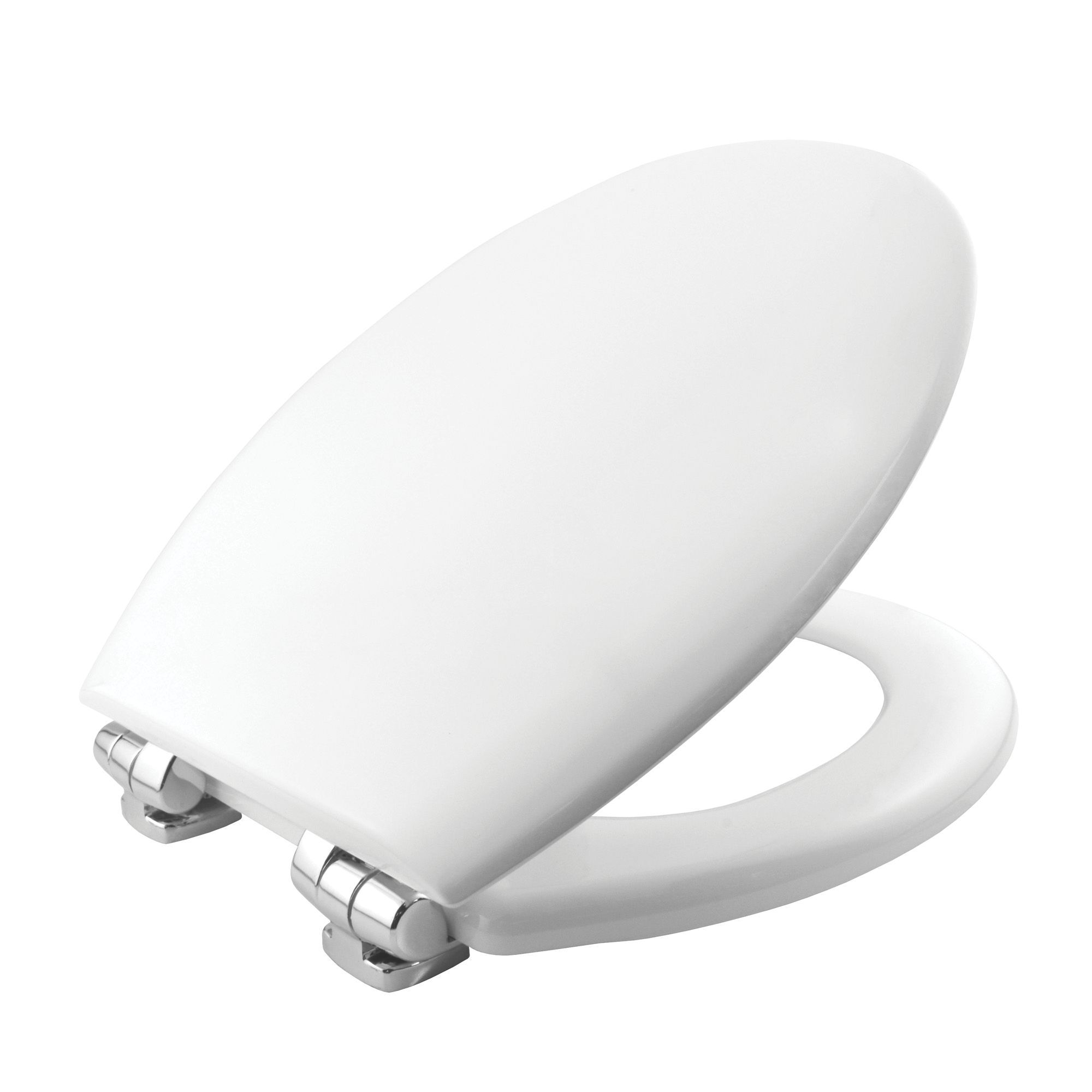 Lovely Bemis New York White Soft Close Toilet Seat