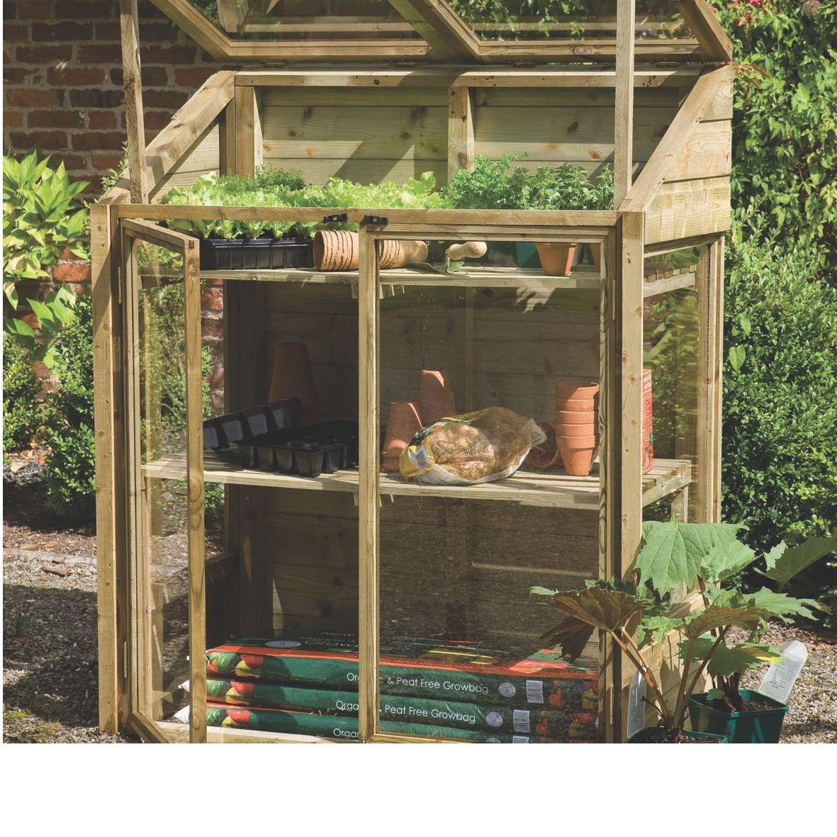 Forest Garden 4x2 Styrene Greenhouse Departments Diy
