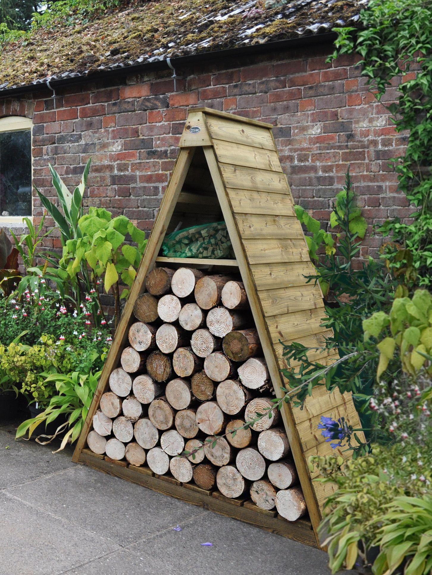 Log Store Shiplap Apex Wooden Log Store 5x2 Departments