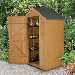4x3 Forest Apex Shiplap Wooden Shed