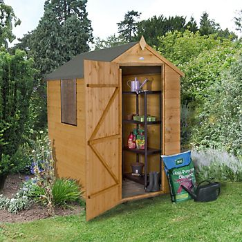 6X4 Apex Shiplap Wooden Shed