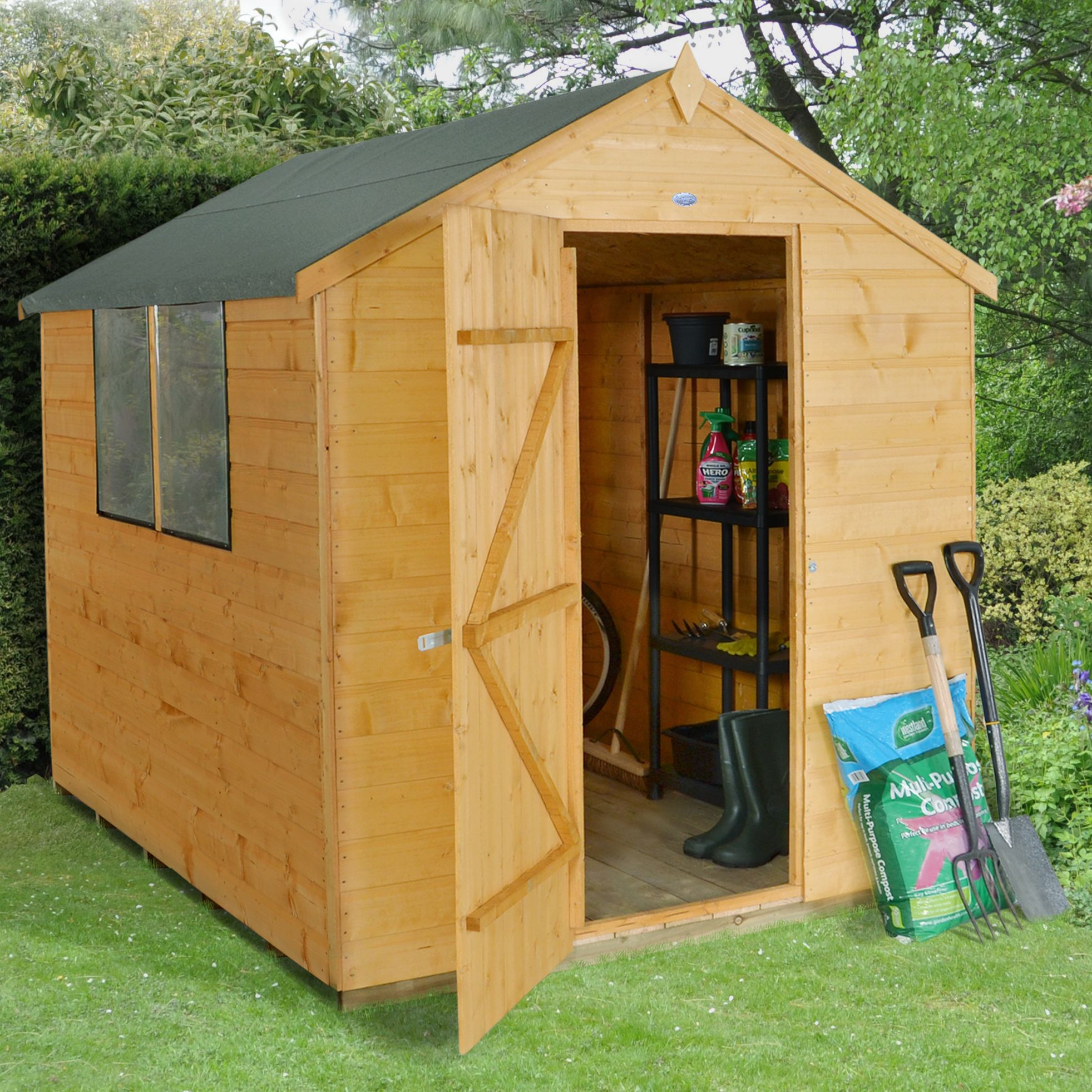 8X6 Apex Shiplap Wooden Shed | Departments | DIY at B&Q
