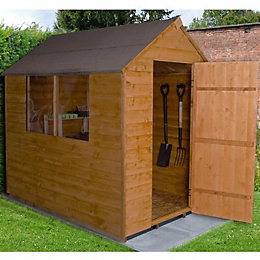 7X5 Forest Apex Overlap Wooden Shed