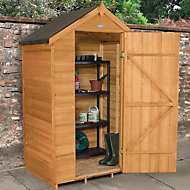 4x3 Forest Apex roof Overlap Wooden Shed With assembly service