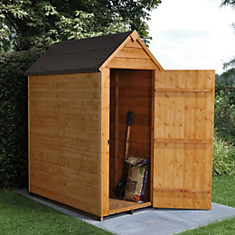 5x3 Forest Apex Overlap Wooden Shed With assembly