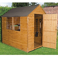 7x5 Forest Apex roof Overlap Wooden Shed With assembly service