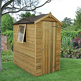 6x4 Forest Apex Tongue & groove Wooden Shed