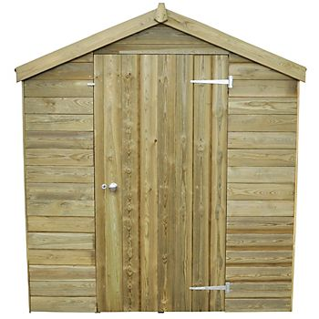 wooden apex shed roof in profile