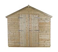 10x8 Forest Apex roof Tongue & groove Wooden Shed With assembly service