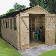 12x8 Forest Apex roof Tongue & groove Wooden Shed With assembly service