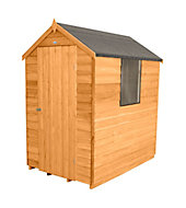 6x4 Forest Apex roof Overlap Wooden Shed With assembly service Base included