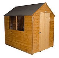7x5 Forest Apex roof Overlap Wooden Shed With assembly service Base included