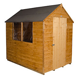 7x5 Forest Apex Overlap Wooden Shed With assembly