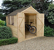 7x7 Forest Apex roof Overlap Wooden Shed With assembly service Base included