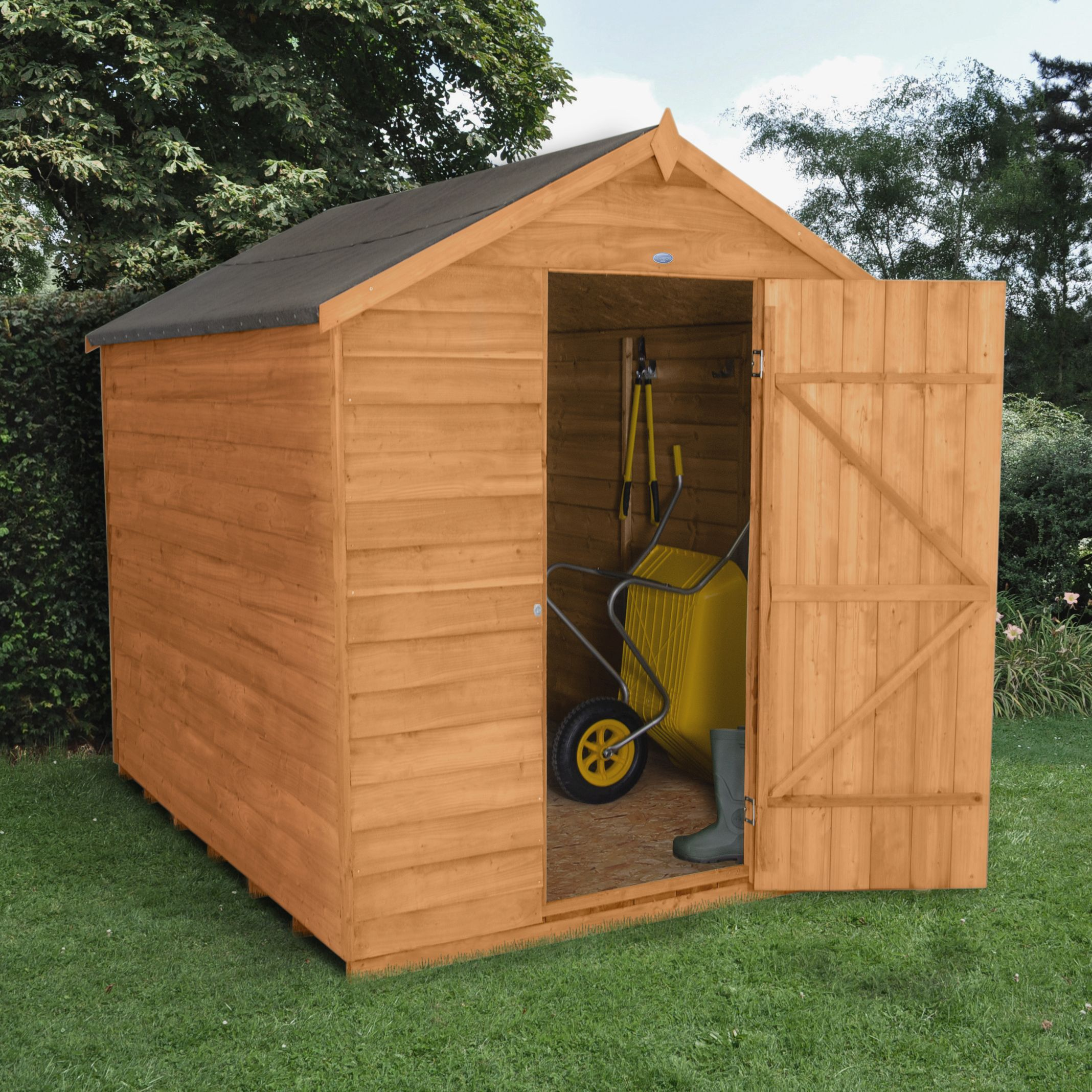 8x6 Apex Overlap Wooden Shed Departments Tradepoint