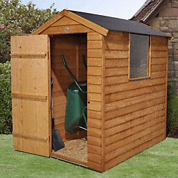 6x4 Forest Apex Overlap Wooden Shed