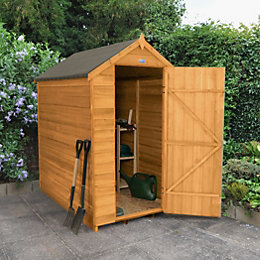 6X4 Apex Overlap Wooden Shed Base Included