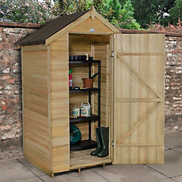 4x3 Forest Apex Overlap Wooden Shed With assembly