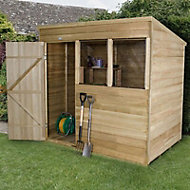 7x5 Forest Pent Overlap Wooden Shed With assembly service