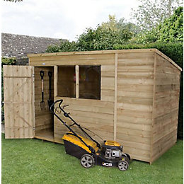 10x6 Forest Pent Overlap Wooden Shed With assembly