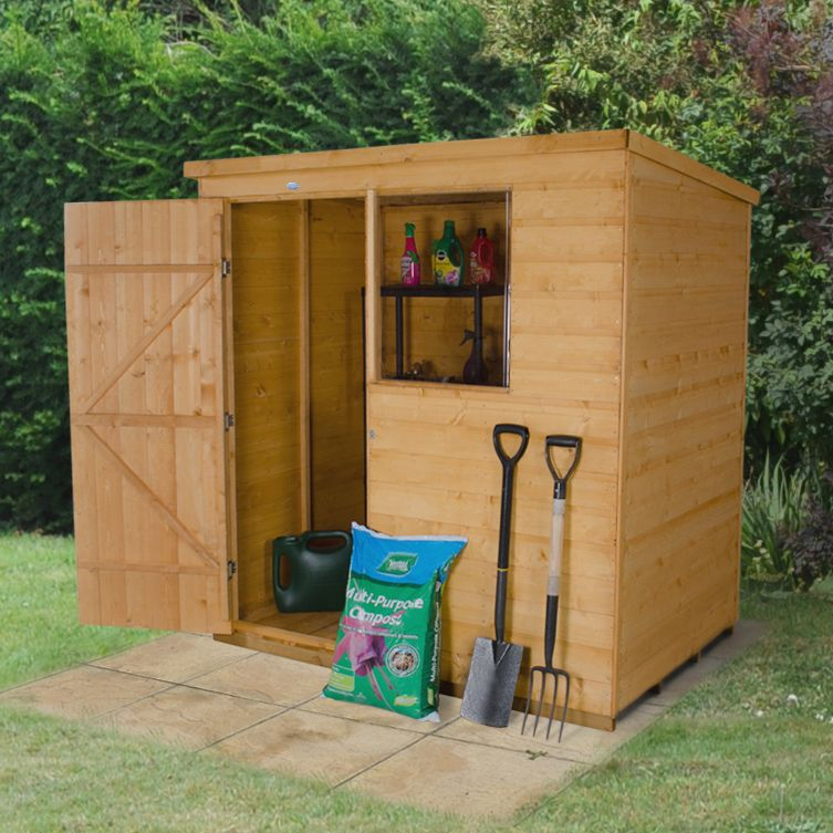 6x4 Forest Pent Shiplap Wooden Shed With assembly