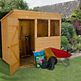 7x5 Forest Pent Shiplap Wooden Shed With assembly service
