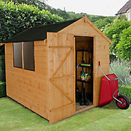 8x6 Forest Apex roof Shiplap Wooden Shed With assembly service Base included
