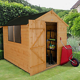 8x6 Forest Apex Shiplap Wooden Shed With assembly