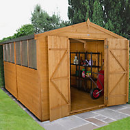 12x8 Forest Apex roof Shiplap Wooden Shed With assembly service
