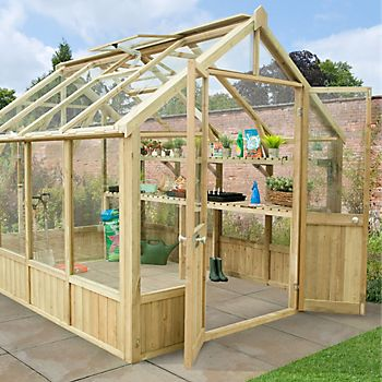 Forest Garden Vale Wooden 10X8 Greenhouse with double doors