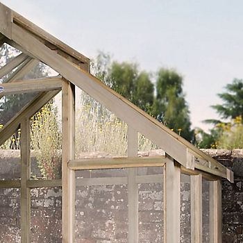 Wooden frame greenhouse