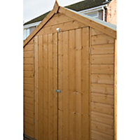 8x6 Apex roof Shiplap Wooden Double Door Shed With assembly service