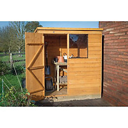6X4 Pent Overlap Wooden Shed with Assembly