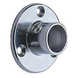 Colorail Chrome Effect Rail Socket (Dia)19mm, Pack of